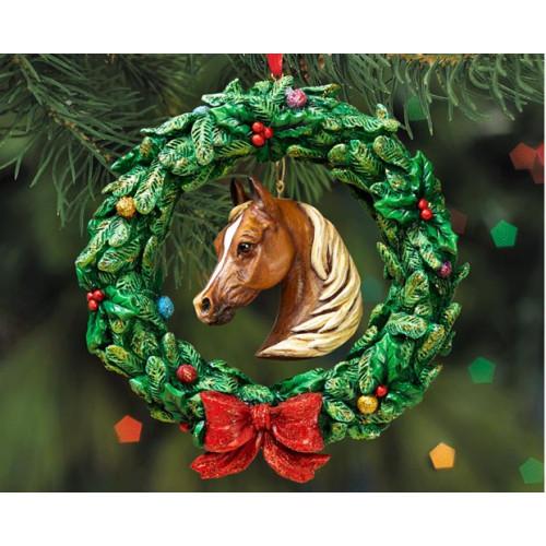 """Breyer """"Krans med hestehoved"""", julepynt. Håndmalet juletræspynt fra Breyer"""