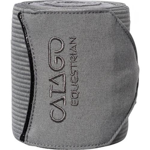 Catago Tailored elastik/fleecebandager. GRÅ. 4 stk