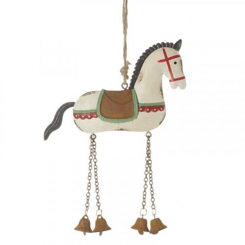 Metal hængende hest dekoration