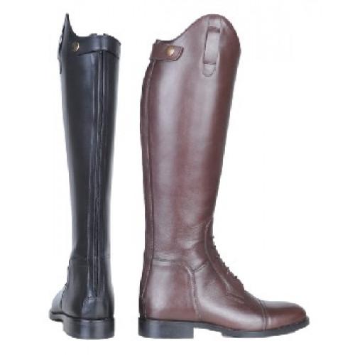 HKM Læderridestølve, Spain, soft læder, med snøre, lang/smal -50%