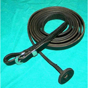 Læder fremvisningsline med spænde, op til 250 cm