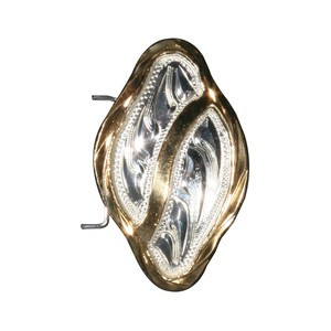 Araber Concho Sølv Diamant med guld kant