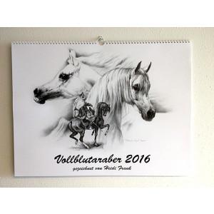 2016 fuldblodsaraber kunstkalender