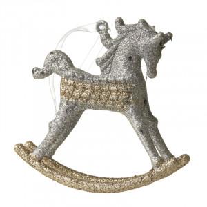 Hængende gyngehest i guld & sølv
