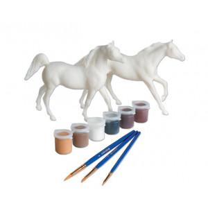 Breyer, My Dream Horse, mal din egen hest aktivitets sæt. 2 heste, Araber & Engelsk fuldblod