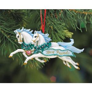 """Breyer """"Best Freiends"""", julepynt. Håndmalet juletræspynt fra Breyer"""