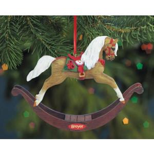 "Breyer ""Eggnog Rocking Horse Ornament Holiday""  Håndlavet juletræspynt fra Breyer"