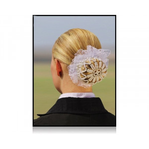 SD® Pearl & Diamond hårnet. Hvid