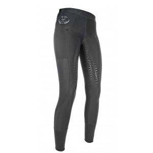 HKM MESH ridetights med full seat silikone- Pull on