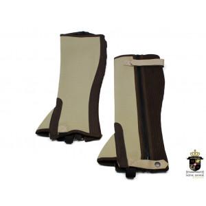 Mink Horse Leggings i neopren og microfiber-skind