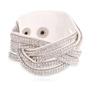 SD® Flettet armbånd med krystaller.