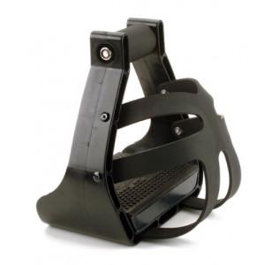 E-Z Stigbøjler, Nylon, sort - påmonteret bur. 1 par