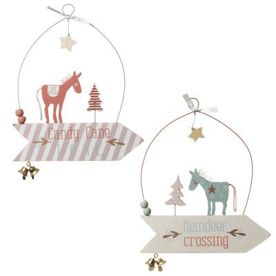 Hængende træhest skilte/julepynt