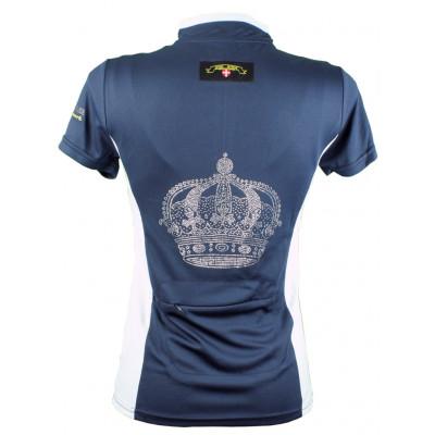 """Mink Horse """"Signature Crown"""" bluse med krystal krone og lynlås"""