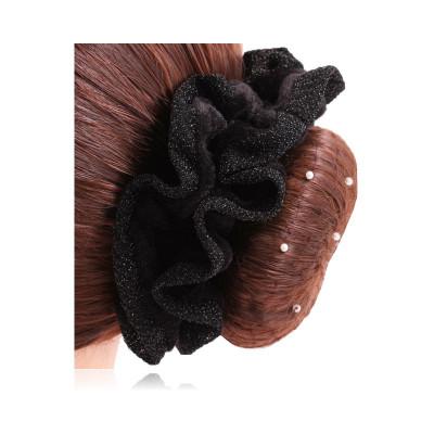 SD® glitter hårelastik, sort