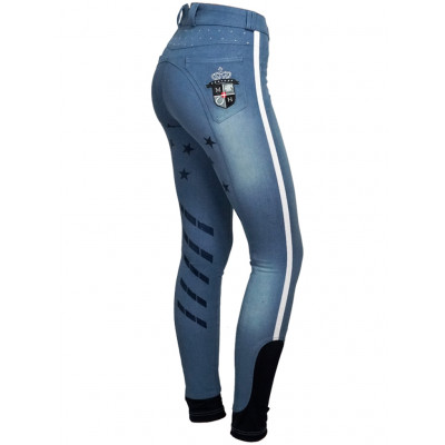 "Mink Horse Ridebuks ""Equestrian Star"" m . power grip, ""Crystal Denim"" Fra 699,00 DKK"