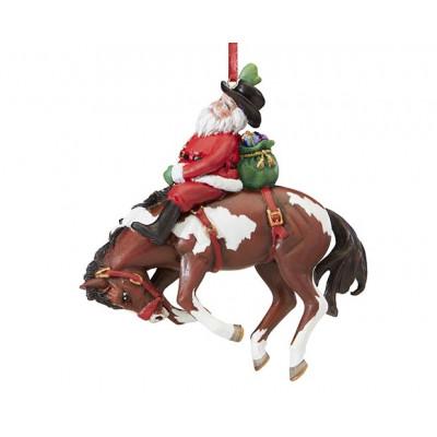 """Breyer """"Santas Wild ride Ornament, julepynt. Håndmalet juletræspynt fra Breyer"""