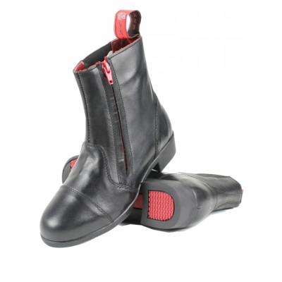Mink Horse kort jodphur læder støvle med lynlås i siden