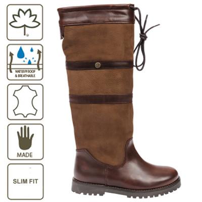 Cabotswood- Gatcombe Oak/Bison støvle, Slim fit