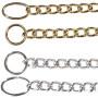 Medium fin araber show kæde, nøglering og ovalring